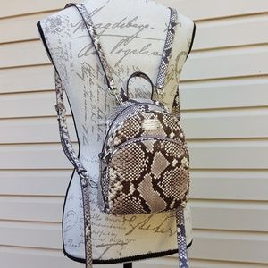 NWT Michael Kors XS Abbey backpack snake natural